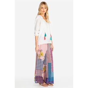 Johnny Was Arlow Crepe de Chine Pant Large NWT